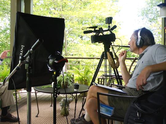 Doug Orr is interviewed for a Culture Vulture Film Fest film.