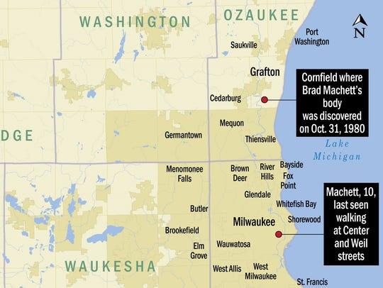 Brad Machett, 10, was abducted by a stranger on Milwaukee's