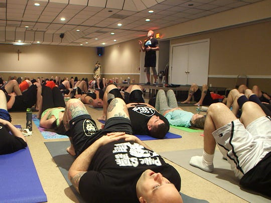 Dallas Diamond Page leads a DDP Yoga workshop on April 30 in Union.
