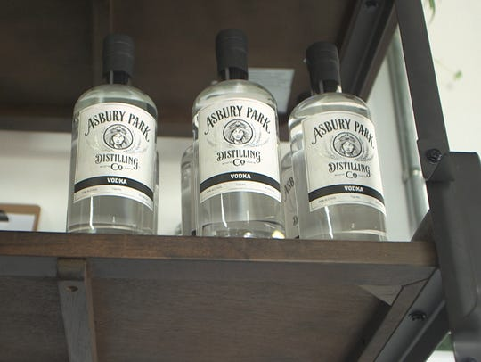 Bottles on display at Asbury Park Distilling Co. 527