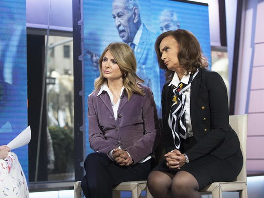 Marion Brown, right, with attorney Lisa Bloom told