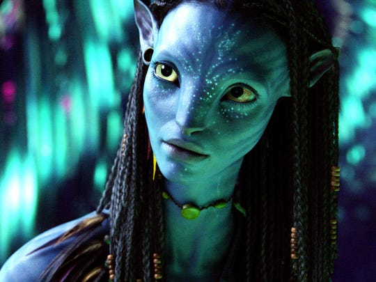 Zoe Saldana stars as the alien Na'vi warrior Neytiri