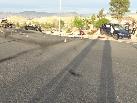 NHP photo of deadly Mt. Rose Highway car crash