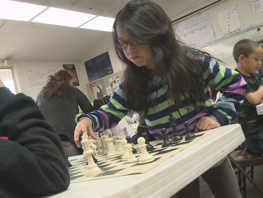 This annual chess charity event isorganized by Chandler