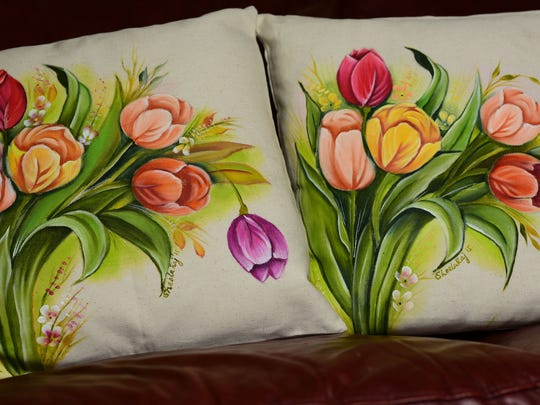 Pillows by Sheela Raj.