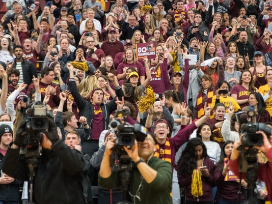 2018-3-29 loyola fans welcome