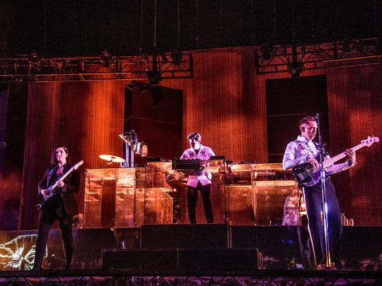 Romy Madley Croft, from left, Jamie xx, and Oliver
