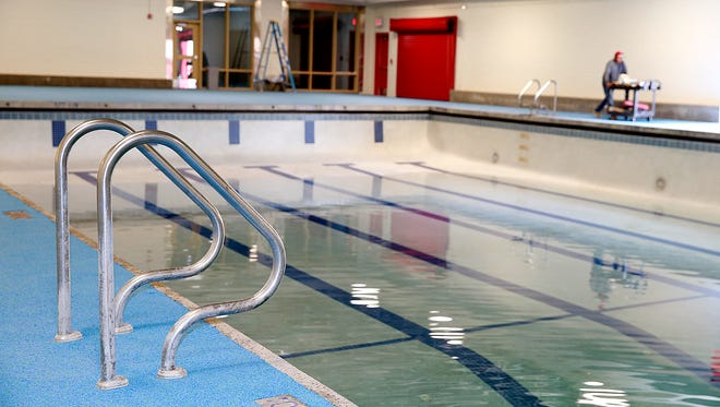 New flooring and pool lights are among the renovations crews completed at the pool facility at Shiprock High School.