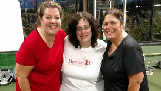 Allison Morris (center) is participating in this year's