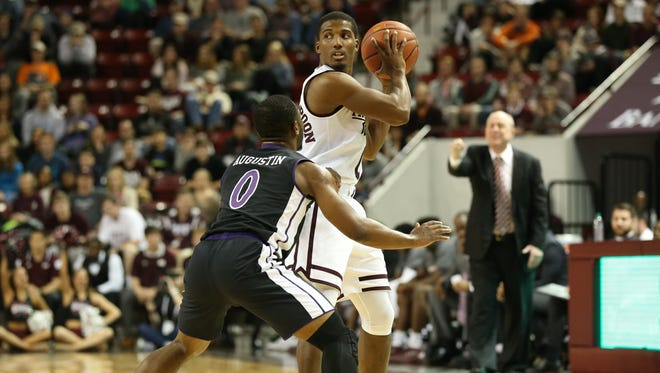 Nick Weatherspoon helped lead MSU to a win over Stephen F. Austin.