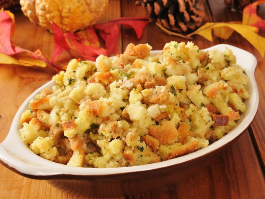 Thanksgiving stuffing and other side dishes can be prepped the night before Thanksiving, then cooked the next morning while the turkey roasts.