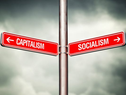 Capitalism or Socialism concept
