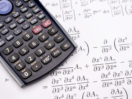 Scientific calculator and mathematical equations