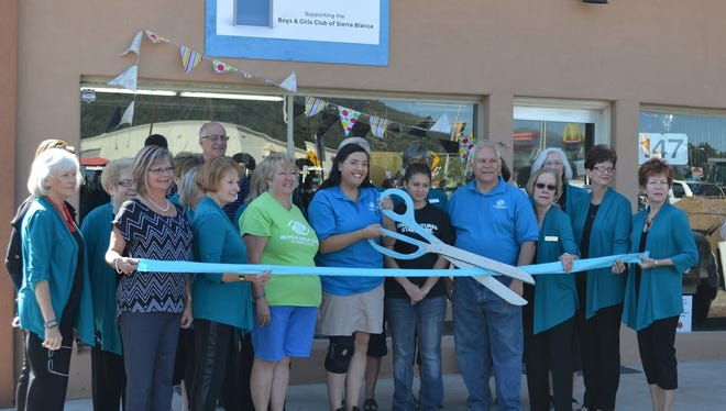Ruidoso Valley Greeters celebrated the grand opening of The Blue Door Thrift Store on National Thrift Store Day Thursday.