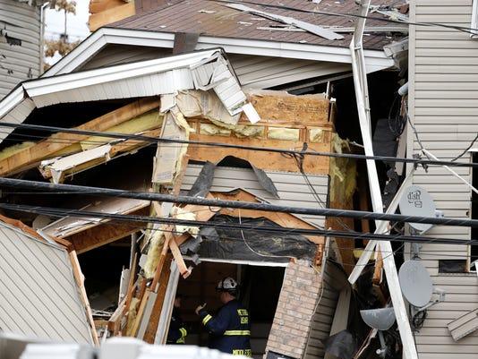 APTOPIX New Jersey House Explosion