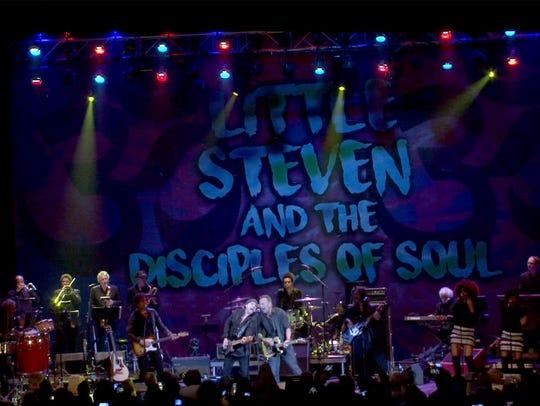 Little Steven Van Zandt and Bruce Springsteen perform