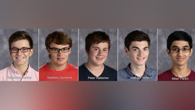 Five juniors at Walnut Hills High Schools scored a 36, a perfect score, on their ACT.