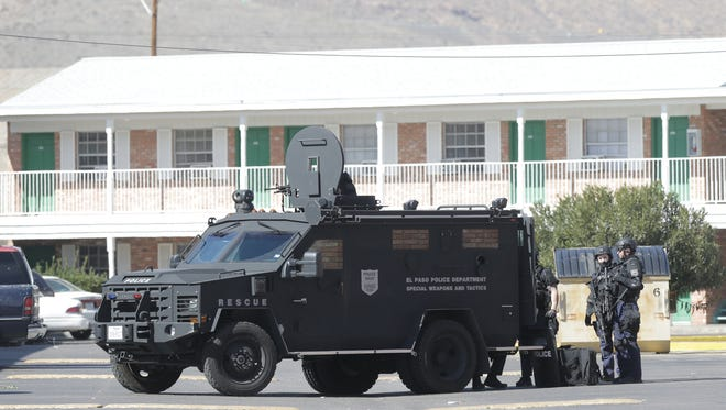 The El Paso Police Department SWAT team entered a room at the Superlodge at 9487 Dyer on Monday and found no one in the room.