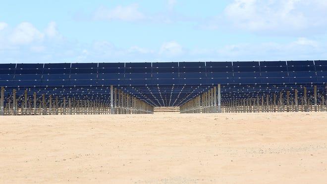 The 150-megawatt Tenaska Imperial Solar Energy Center West just outside El Centro in Imperial County, California, near the Mexican border.