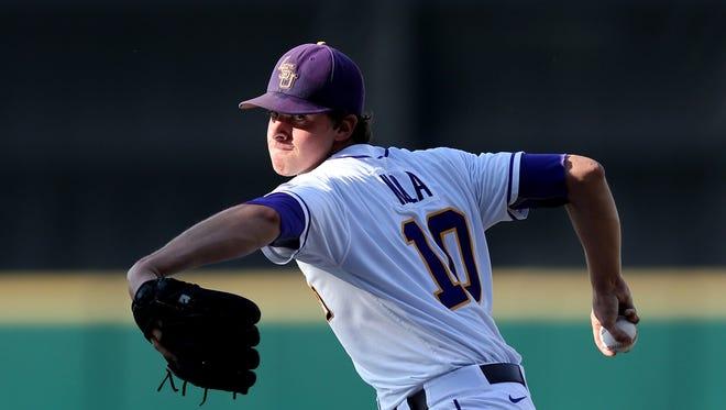 LSU pitcher Aaron Nola was 30-6 in three seasons at LSU with a 2.09 ERA.