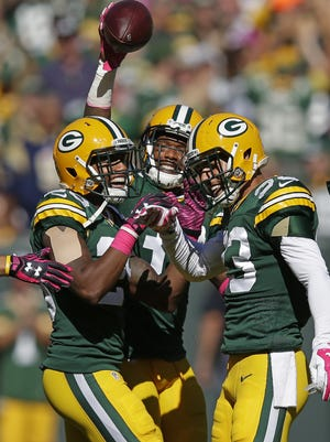 Since 2015, the Packers have released cornerback Sam Shields (middle) and let safety Micah Hyde (right) and cornerback Casey Hayward (left) leave via free agency.