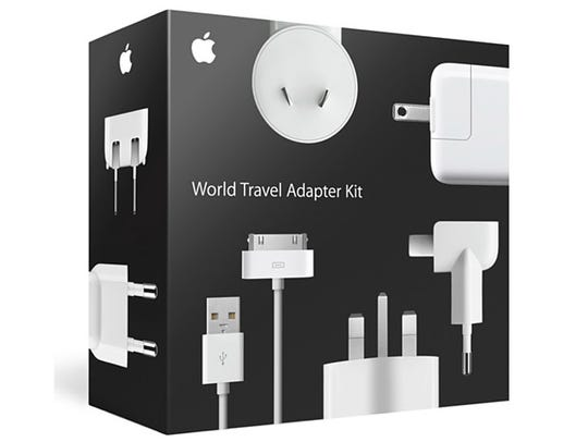 The Apple World Travel Adapter Kit is Apple's official