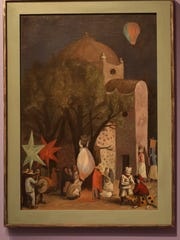 """Night in the Churchyard"" a 1941 painting by Jose Chavez"