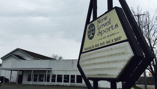 The sign outside of New Level Sports at 400 West Michigan Ave. in Battle Creek.