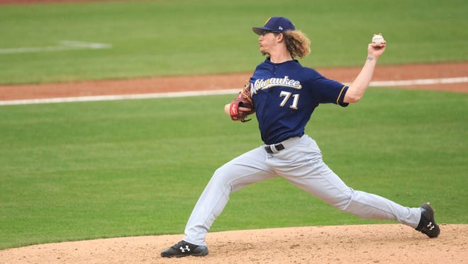 Lefthanders are hitting just .158 off of Josh Hader at Colorado Springs.