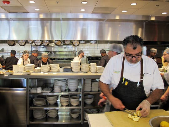 The open kitchen at True Food Kitchen, which recently opened at Waterside Shops in Naples.