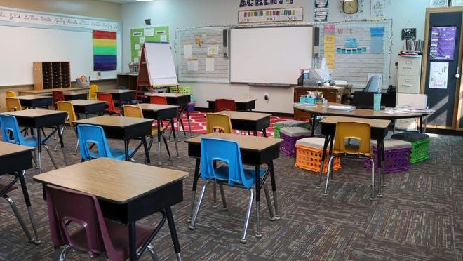 In Highland Park school classrooms, desks are replacing tables to allow for social distancing for the 2020-21 school year.