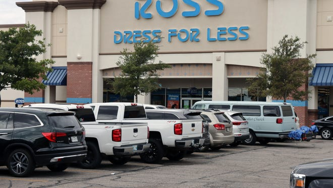 Parking lots like this one at Ross were crowded as Texas Panhandle residents take advantage of the state of Texas' sales tax holiday Saturday.