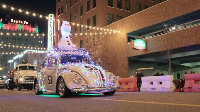 Center City will host a reverse Electric Light Parade down Tyler and Harrison Streets at 6 p.m. Dec. 4.