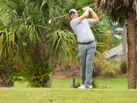 Defending champion Grant Sturgeon opened with a 2-under 70 and is tied for 16th at the PGA Assistants Championship in Florida.