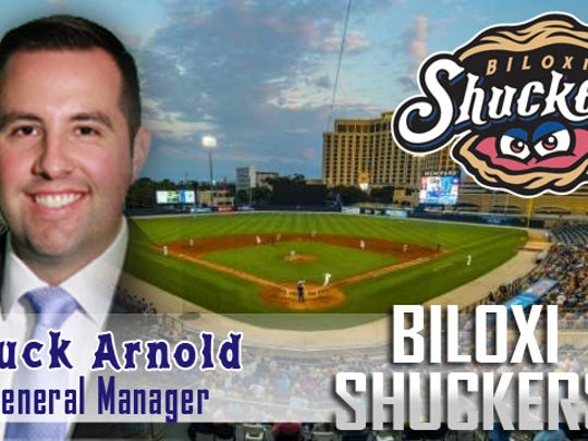 The Blue Wahoos sales director Chuck Arnold named Friday as Biloxi Shuckers general manager