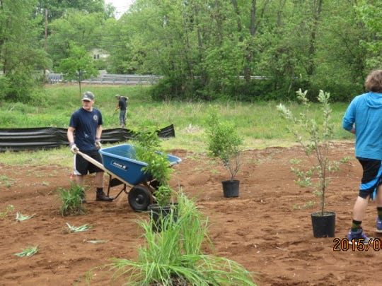 Eric's project was a wet meadow/rain garden in Monroe's community garden on Applegarth Road.