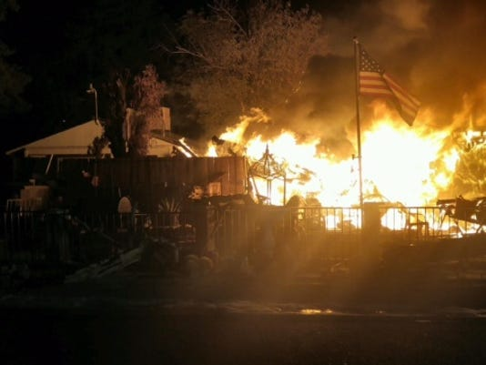 Phoenix mobile home fire