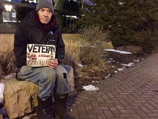 William Tentis, a homeless veteran befriended by a