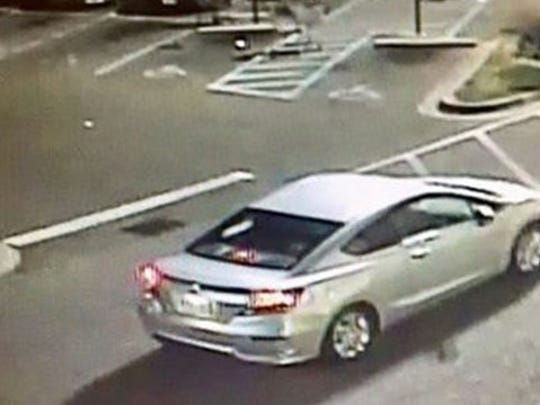 A 2000 Toyota Camry is being sought by police.