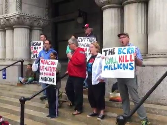 Federal Courthouse protest