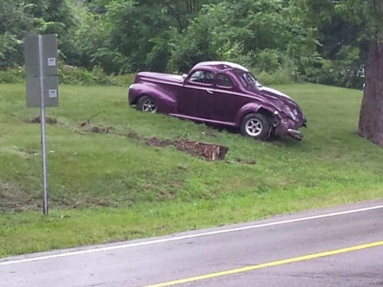 In a one-car crash Saturday in Oakland County, this classic 1940 Ford rolled multiple times and fatally injured its 71-year-old driver.