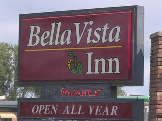 The sign on the Bella Vista Inn located in Bear Lake, Mich.