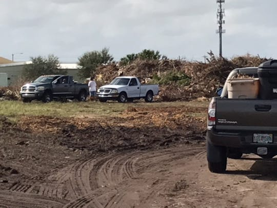 A special Cape Coral residents-only debris dump site