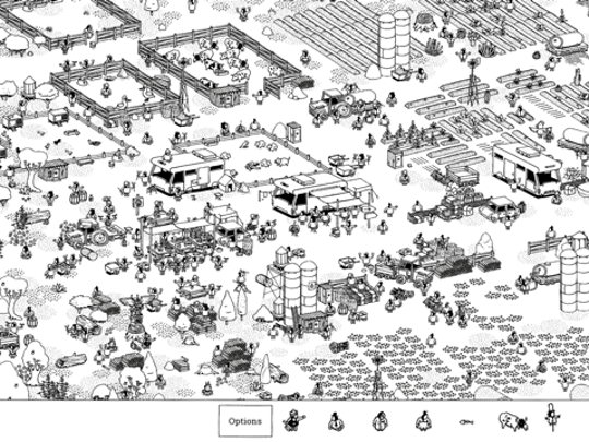 A scene from 'Hidden Folks'