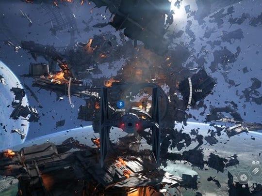 A scene from 'Star Wars Battlefront II'