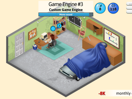 A scene from 'Game Dev Tycoon'