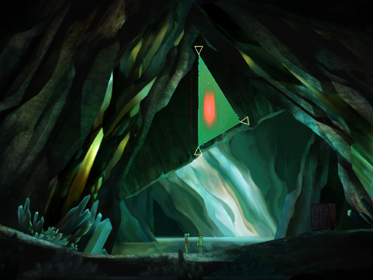 "A scene from ""Oxenfree"""