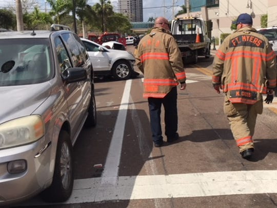 A four-car crash shortly after 11:30 a.m. closed Dr. Martin Luther King Jr. Boulevard west of Monroe Street.
