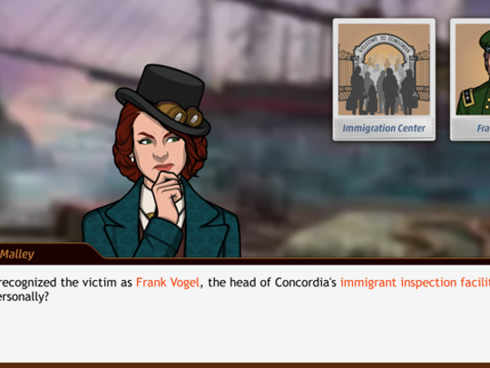 "A scene from ""Criminal Case Mysteries of the Past"""