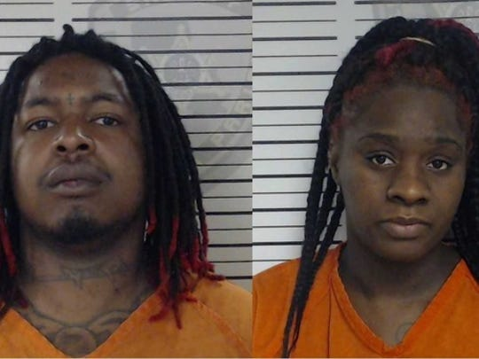 Terrance and Jasmina Hatfield were arrested and taken to the parish jail.